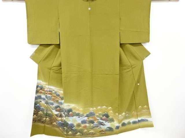 合計3980円以上の購入で送料無料 作家物 信頼 屋敷風景模様一つ紋色留袖 35%OFF リサイクル 中古