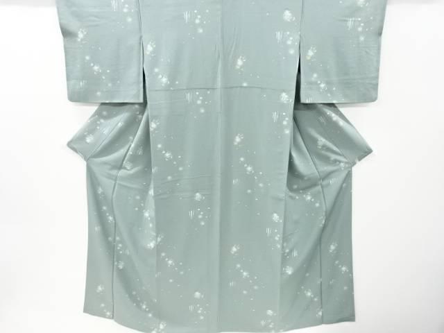 送料無料 新品 合計3980円以上の購入で送料無料 春秋花模様小紋着物 中古 リサイクル 信用