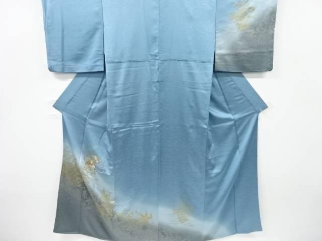 合計3980円以上の購入で送料無料 扇に菊梅楓模様刺繍訪問着 中古 リサイクル 安全 新商品