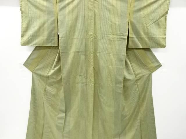合計3980円以上の購入で送料無料 メーカー公式 縞織り出し手織り節紬着物 オリジナル 中古 リサイクル