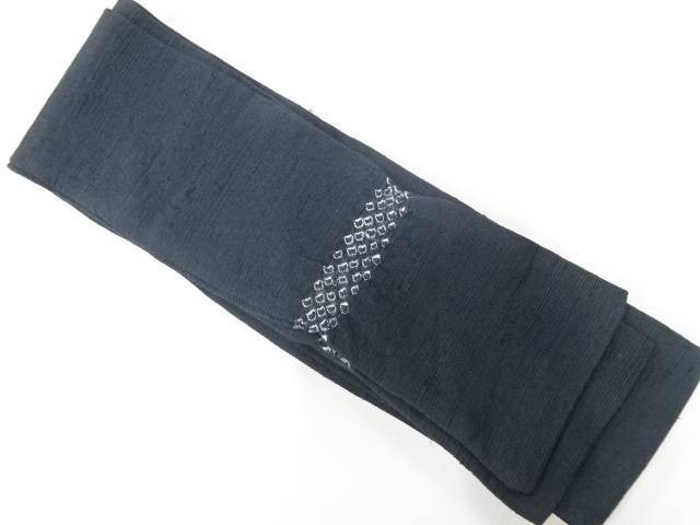 合計3980円以上の購入で送料無料 手織り紬絞り男物角帯 280センチ リサイクル セール 着 ハイクオリティ 中古