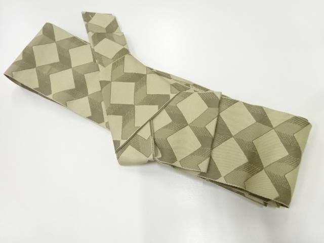 合計3980円以上の購入で送料無料 抽象模様織出し男物作り帯 激安 リサイクル 中古 着 登場大人気アイテム