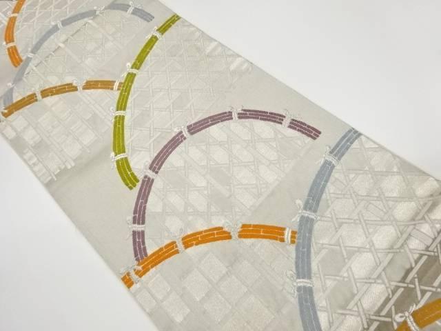 合計3980円以上の購入で送料無料 お得セット 蛇籠模様織出し袋帯 リサイクル 中古 数量は多 着