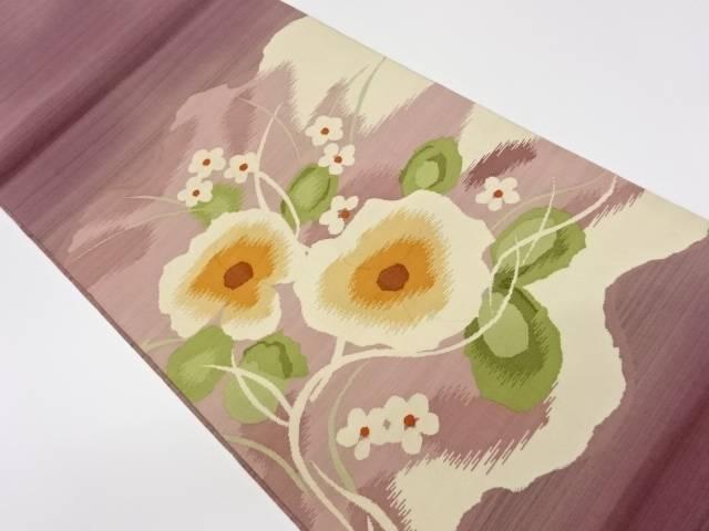 合計3980円以上の購入で送料無料 明綴れ花々模様織出し袋帯 リサイクル 着 在庫処分 中古 公式ストア