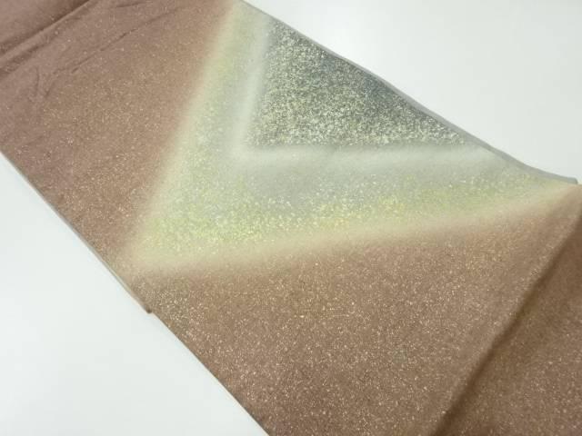 合計3980円以上の購入で送料無料 作家物 2020 新作 手織り紬箔散らし抽象模様袋帯 有名な 中古 着 リサイクル