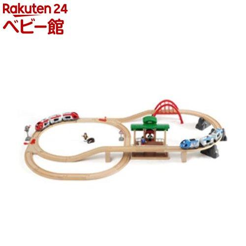 トラベルレールセット(1セット)【ブリオ(Brio)】[おもちゃ 遊具 木のおもちゃ]