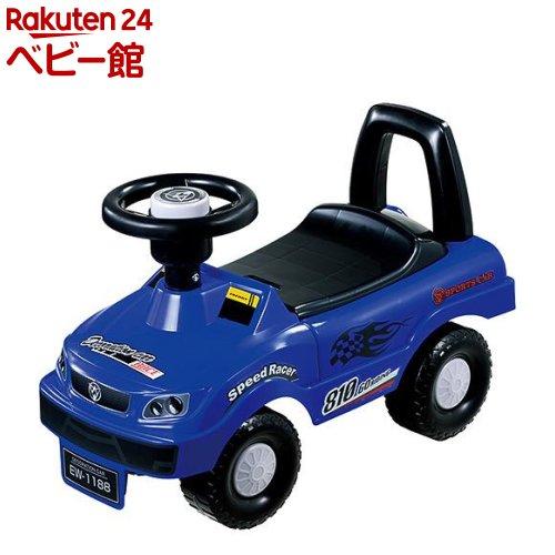 三輪車 のりもの 乗用玩具 足けリ 永和 EIWA 人気海外一番 キッズスポーツカー ブルー [宅送] 1台