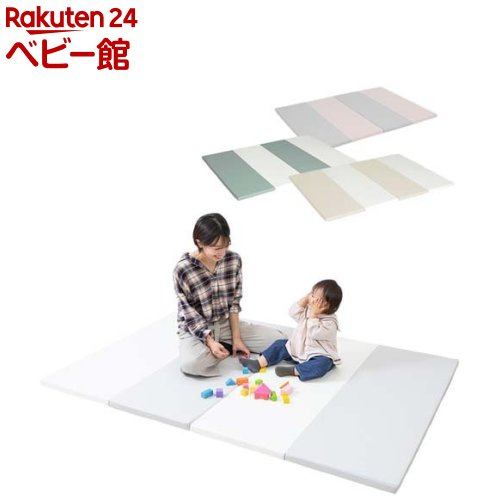 200×140×4cm 厚手 アイテム勢ぞろい フロアマット 売買 折りたたみ 日本育児 1セット プレイマット nuage