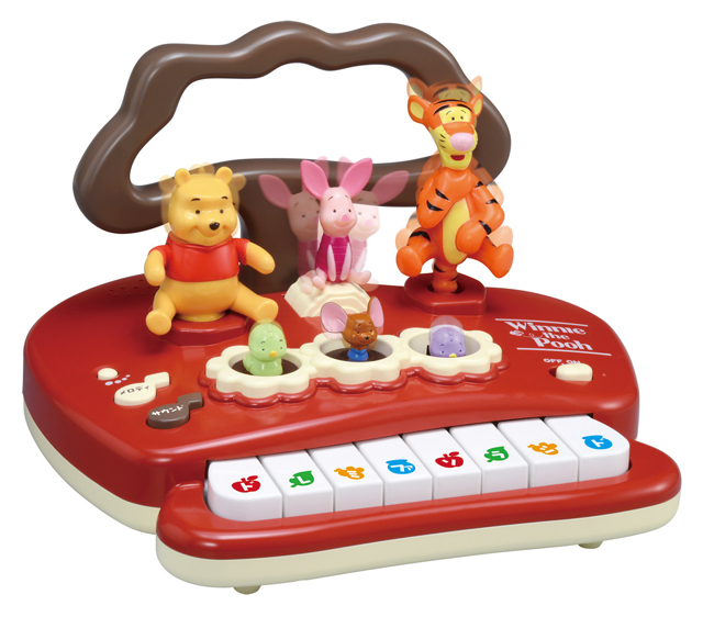 在★货到付款・★小熊维尼哆来咪跳365天吧! 首次的钢琴(小熊维尼)TAKARA TOMY TAKARA TOMY迪士尼Disney智育玩具玩具电子钢琴