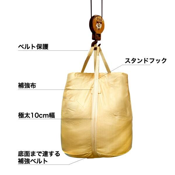 フレコン 丸型フレコンバック 土のう袋 10枚セット 1トン用 上部全開 下部半開 φ110×110cm フレコンバッグ 001