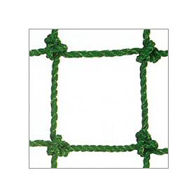 ネットフェンス 25mm目 有結 1m×10m グリーン