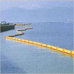 【即日発送可能】河川・内海用オイルフェンス QA-20(非型式承認品) 送料無料 池 湖 ゴミ集め 水場 油 緊急時 当日出荷