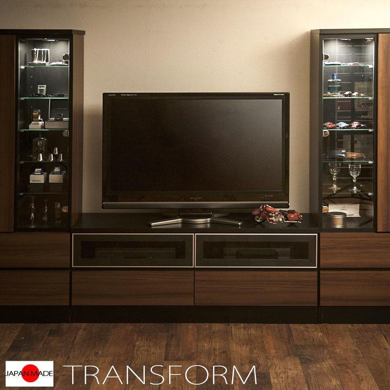 【Transform】トランスフォームシリーズ ユニットシステム壁面収納 幅60 中台 スライドラックタイプ ラック 棚 白家具 木製 完成品 ブラウン ホワイト つっぱり テレビ台 薄型 本棚 テレビボード