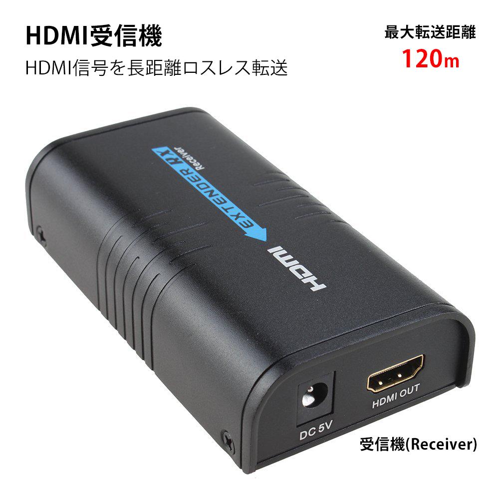 送料無料 HDMI 延長器(エクステンダー) 最大150m延長 ルーター利用でマルチ画面可能 1080i/1080P/720p/576i/480p HDCP完全対応 日本語取説付