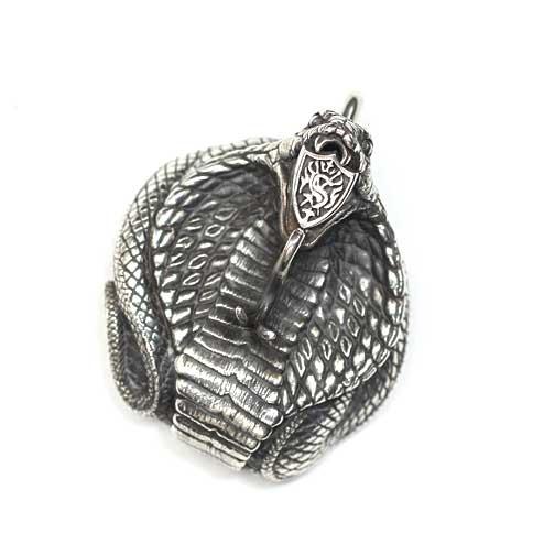S'FACTORYエスファクトリー エンブレム コブラ ペンダントトップ Silver925(銀) メンズ アクセサリー ヘビ スネーク シルバー ネックレス