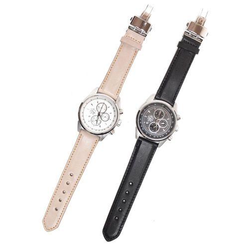 S'FACTORYエスファクトリー クロノグラフ腕時計 レザーベルト 栃木レザー(牛革)メンズ 腕時計 レザー 革 クロノグラフ EPSON Dバックル 日本製