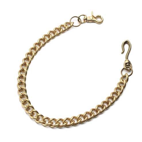 S'FACTORYエスファクトリー 真鍮 ウォレット チェーン スタンダード ゴールド ブラス(真鍮) 財布 金属 ゴールド メンズ アクセサリー 喜平 長い