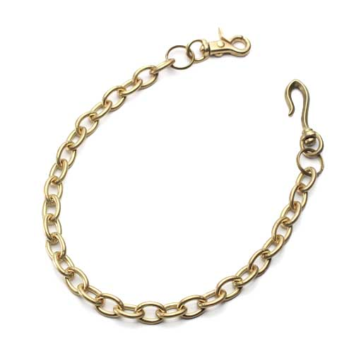 S'FACTORYエスファクトリー 真鍮 ウォレット チェーン リング ゴールド ブラス(真鍮) 財布 金属 ゴールド メンズ アクセサリー 小判 長い
