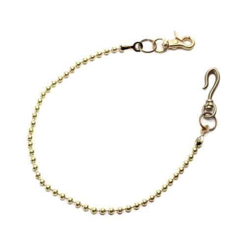 S'FACTORYエスファクトリー 真鍮 ウォレット チェーン ボール小 ゴールド ブラス(真鍮) 財布 金属 ゴールド メンズ アクセサリー 長い