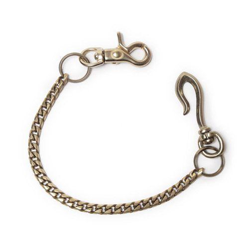 S'FACTORYエスファクトリー 真鍮 ショート ウォレット チェーン キューバリンク小 ゴールド ブラス(真鍮) 財布 金属 短め メンズ アクセサリー