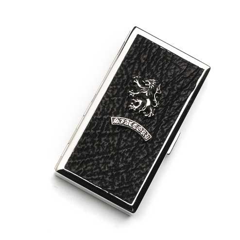 S'FACTORYエスファクトリー メタル シガレットケース 12本タイプ シャーク(サメ革) ロング レザー 革 10本以上収納 鮫 タバコ シャークスキン