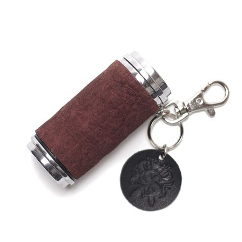 S'FACTORYエスファクトリー 携帯灰皿シリンダー ボルドーヒポ(カバ革) 携帯 灰皿 喫煙具 レザー 革 プレゼント ギフト