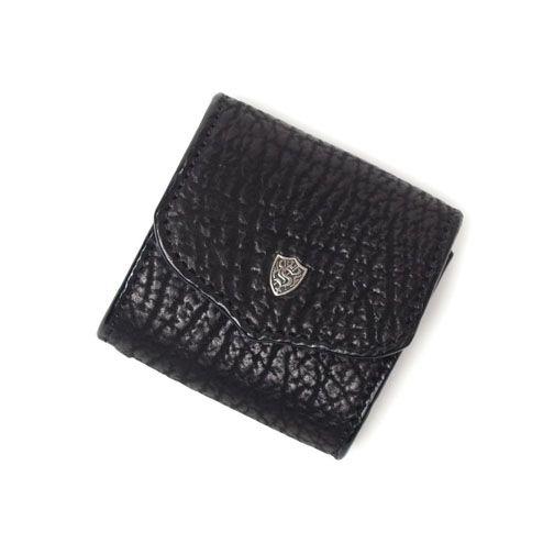 S'FACTORYエスファクトリー スナップコインケース シャーク(サメ革) 本革 コインケース カード 財布 小銭入れ