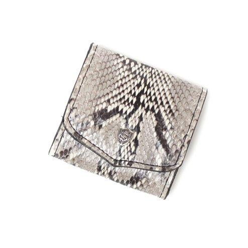 S'FACTORYエスファクトリー スナップコインケース パイソン(ヘビ革) 本革 コインケース カード 財布 小銭入れ
