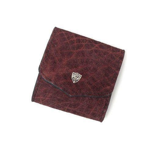 S'FACTORYエスファクトリー スナップコインケース ボルドーヒポ(カバ革) 本革 コインケース カード 財布 小銭入れ