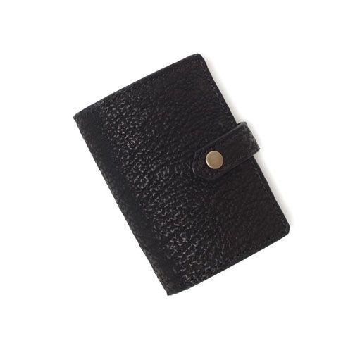 S'FACTORYエスファクトリー レザーコインクリップ シャーク(サメ革) 本革 コインケース カード 財布 小銭入れ シャークスキン