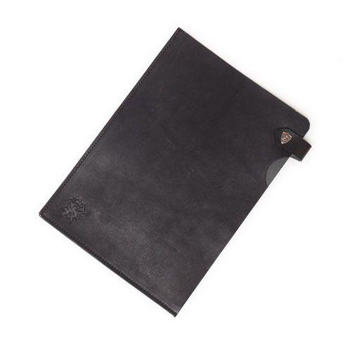 S'FACTORYエスファクトリー 栃木レザー A5 レザーファイル カウレザー ブラック(牛革) 書類入れ クリアファイルケース 革 レザー デスク ステーショナリー
