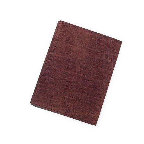 S'FACTORYエスファクトリー レザーブックカバー 文庫本サイズ ボルドーヒポ(カバ革)ブックカバー 文庫本 カバー ケース
