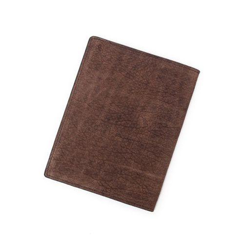 S'FACTORYエスファクトリー レザーブックカバー 文庫本サイズ ブラウンヒポ(カバ革)ブックカバー 文庫本 カバー ケース
