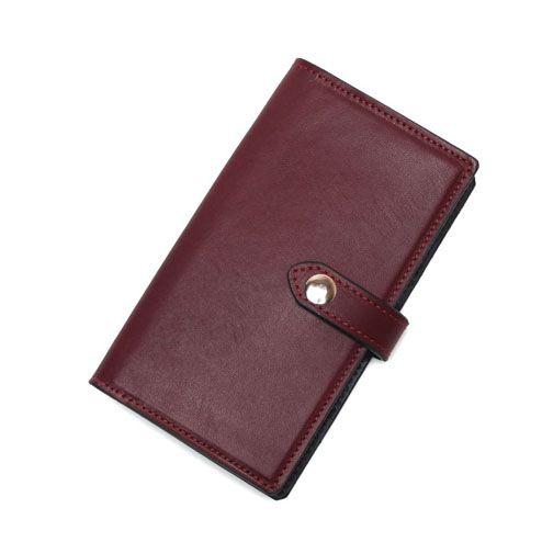 S'FACTORYエスファクトリー iPhone 手帳型 レザースマートフォン ケース カウレザー レッド(牛革)スマホ カバー 本革 シンプル 無地 iPhone カード収納 ポケット