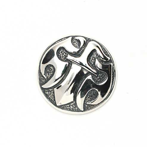 S'FACTORYエスファクトリー ダガー コンチョ 大 Silver925(銀) ウォレット パーツ カスタム コンチョ シルバー