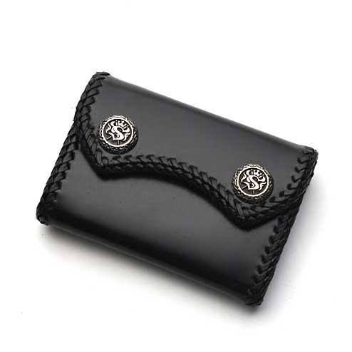 S'FACTORYエスファクトリー マイクロウォレット カウレザー ブラック(牛革) ミニ財布 メンズ 本革 コインケース 小銭入れ ショートウォレット