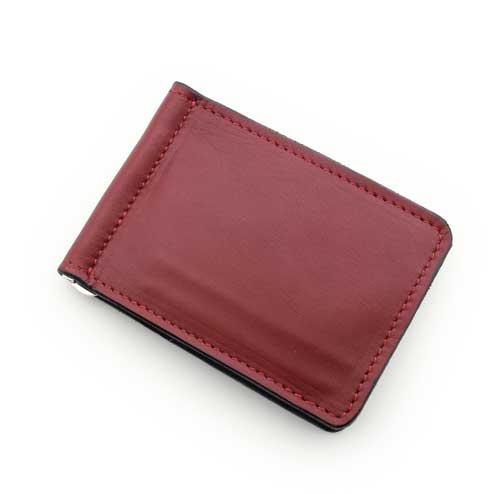 S'FACTORYエスファクトリー レザーマネークリップ レッド カウレザー(牛革) 本革 札はさみ カード入れ付き 赤 財布 メンズ 限定カラー