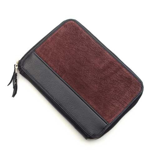 S'FACTORYエスファクトリー クラッチ ウォレット ヒポ ボルドー(カバ革) メンズ 財布 多機能 大きい ファスナー バッグ オーガナイザー レザー 革