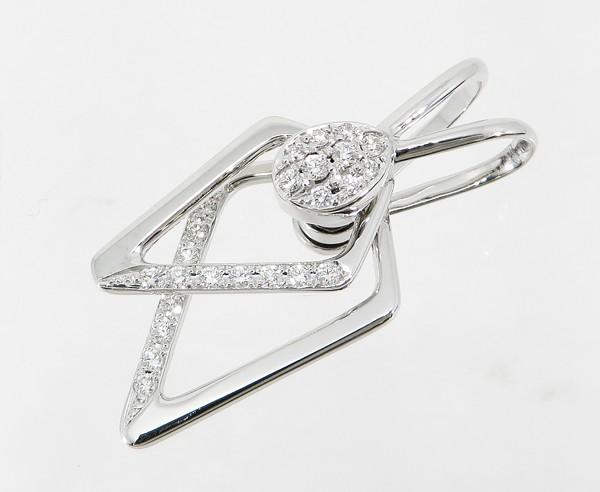 ◇【中古】 美品 【WALTHAM ウォルサム】 K18WG ダイヤモンド スウィング ペンダントトップ ペンダントトップ