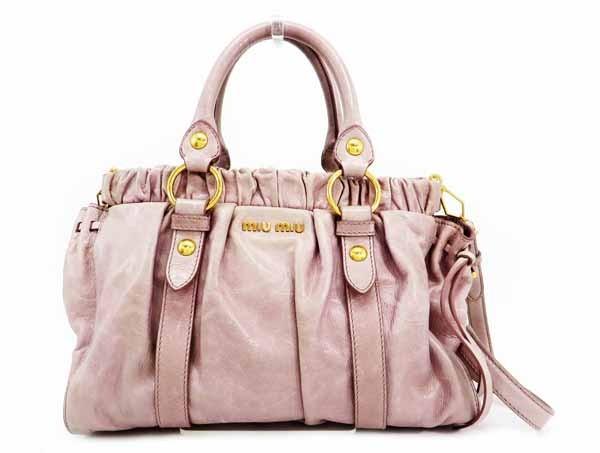 ◇【中古】 【MIU MIU ミュウミュウ】 2WAYハンドバッグ RT0383 ハンドバッグ