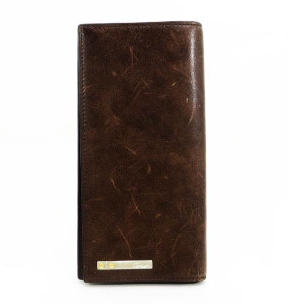 ◇【中古】 【Cartier カルティエ】 サントス 長財布 財布