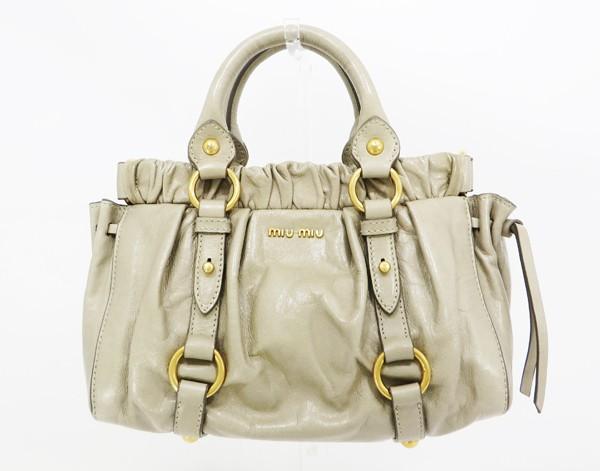 ◇【中古】 【MIU MIU ミュウミュウ】 2WAYハンドバッグ ハンドバッグ