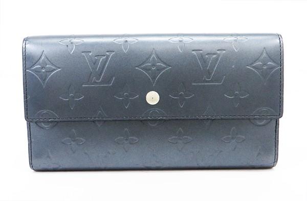◇【中古】 【LOUIS VUITTON ルイ・ヴィトン】 3つ折り長財布 M65105 財布 モノグラム・マット/ブルー