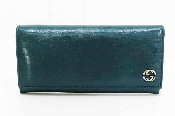 ◇【中古】 【GUCCI グッチ】 コンチネンタル ウォレット 256348 財布 ブルー系