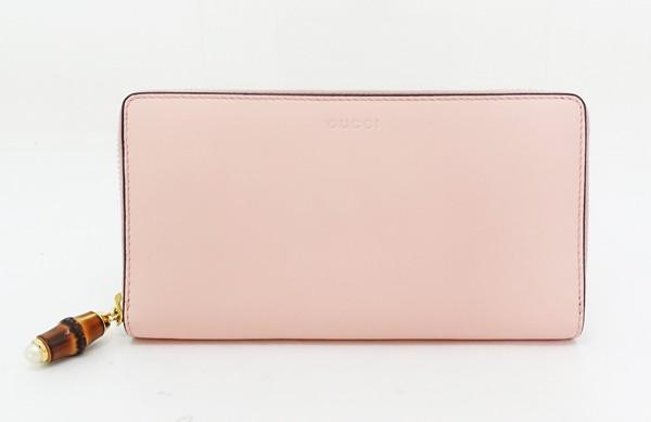◇【中古】 新品同様 【GUCCI グッチ】 ニムフェア ジップアラウンド ウォレット 453158 財布 ピンク