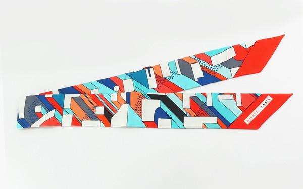 ◇【中古】 新品同様 【HERMES エルメス】 ツイリー 063048S06 スカーフ