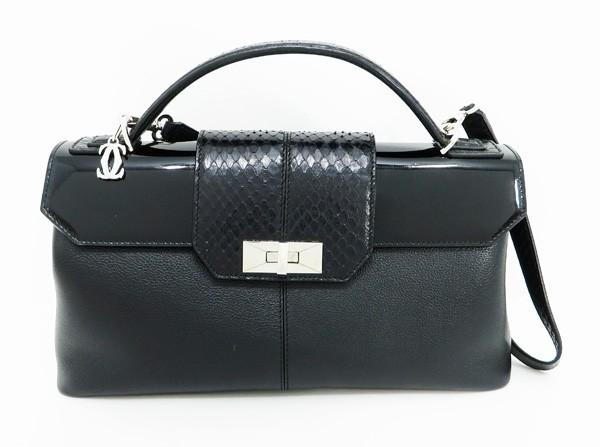◇【中古】 【Cartier カルティエ】 クラシックフェミニンMM L1001392 2WAYハンドバッグ ブラック