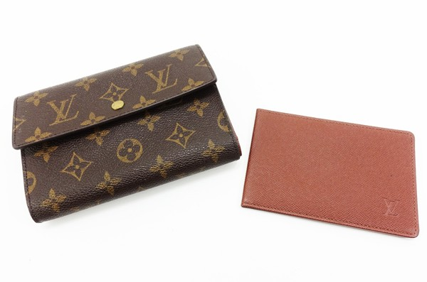 【中古】 【LOUIS VUITTON ルイ・ヴィトン】 証明書付 3つ折り財布 M60202 財布 モノグラム