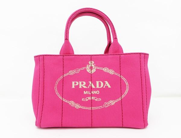 【中古】 【PRADA プラダ】 カナパ 2WAY トートバッグ 1BG439 トートバッグ ピンク