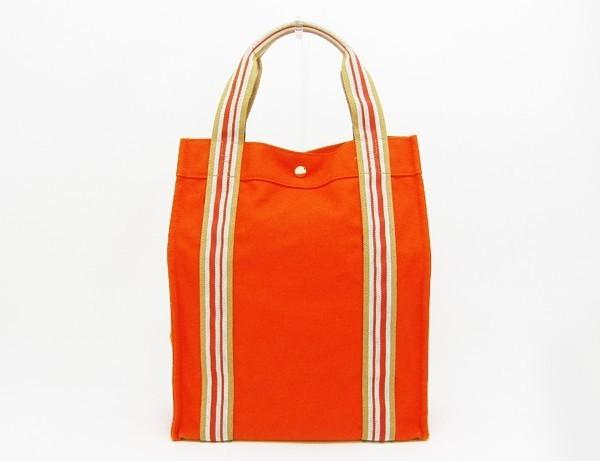 【中古】 【HERMES エルメス】 サックドプラージュ ノマードエスカーレ トートバッグ オレンジ